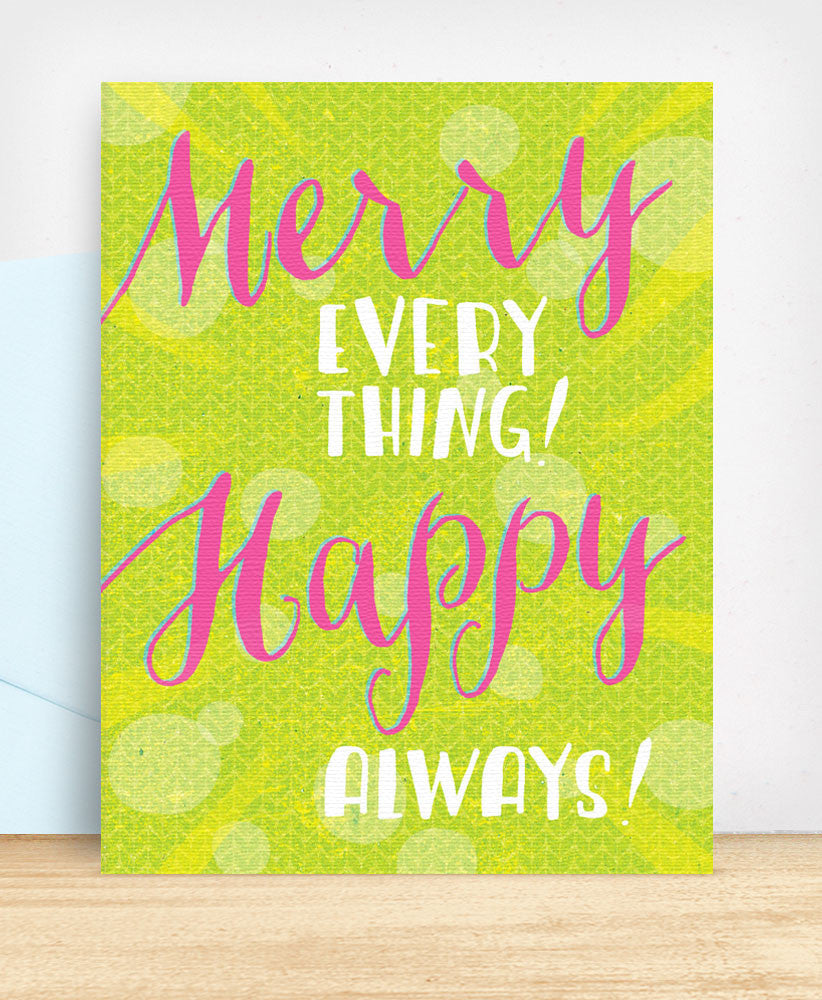 Merry Everything Happy Always (MEH021) - blingbebe shop ::: greetings that shine