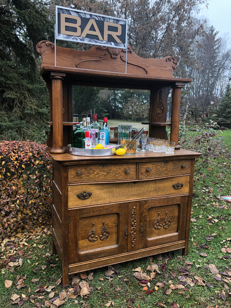 Oak Cabinet/Bar Rental