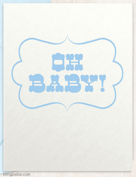 Oh Baby! - Blue - blingbebe shop ::: greetings that shine