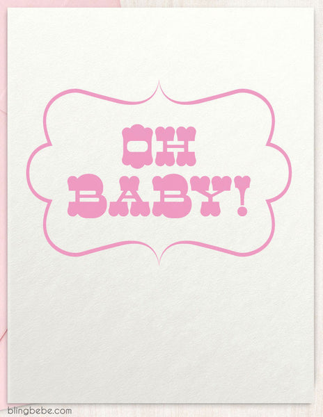 Oh Baby! - Pink - blingbebe shop ::: greetings that shine