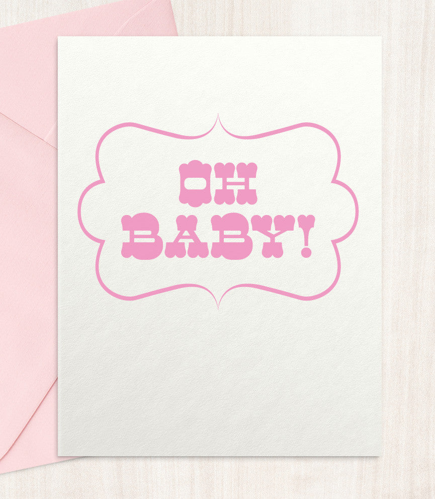 Oh Baby! - Pink (OP13) - blingbebe shop ::: greetings that shine