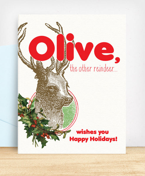 Olive, the other reindeer - blingbebe shop ::: greetings that shine
