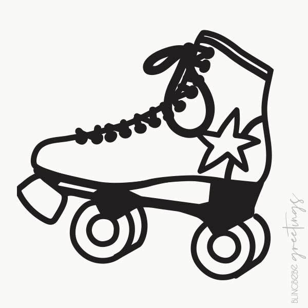 Roller Skate - Cut Paper Illustration
