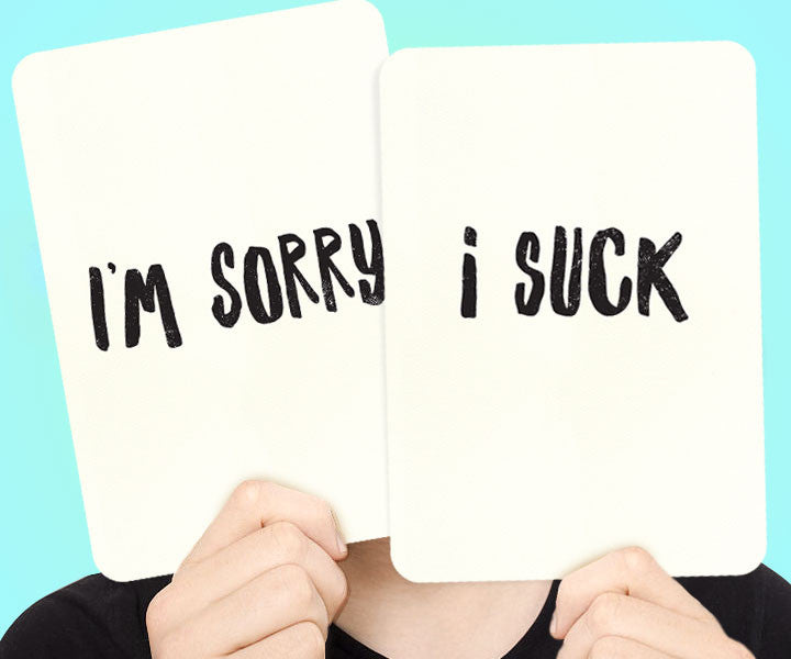 Apology Flashcards - I'm Sorry. I Suck. - blingbebe shop ::: greetings that shine  - 1