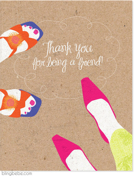 Thank You For Being A Friend - blingbebe shop ::: greetings that shine