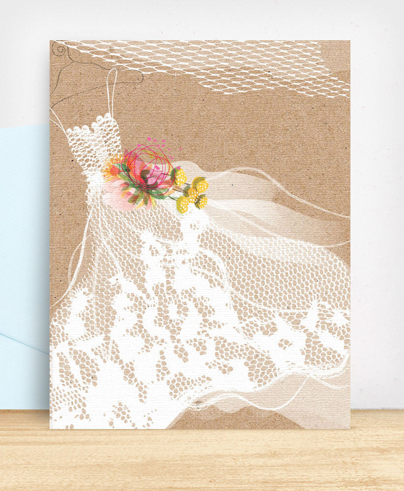 Lace Wedding Dress (WED15) - blingbebe shop ::: greetings that shine