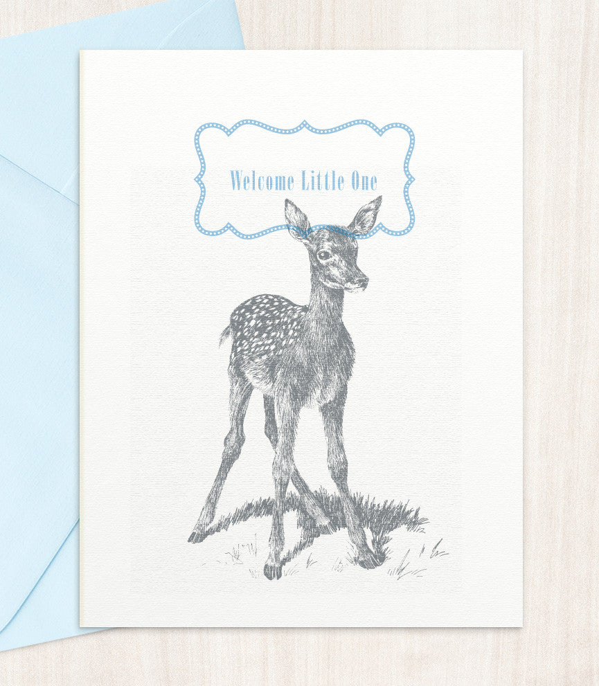 Welcome Little One - Blue (WB10) - blingbebe shop ::: greetings that shine
