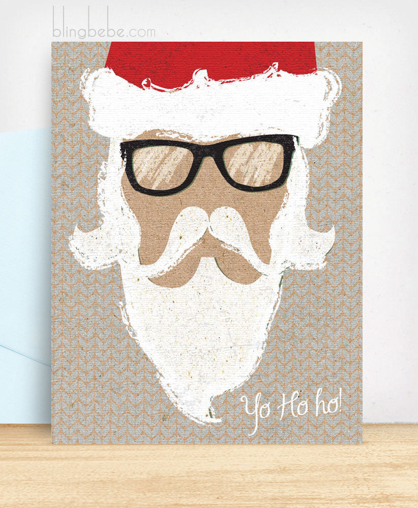 Yo Ho Ho Santa - blingbebe shop ::: greetings that shine