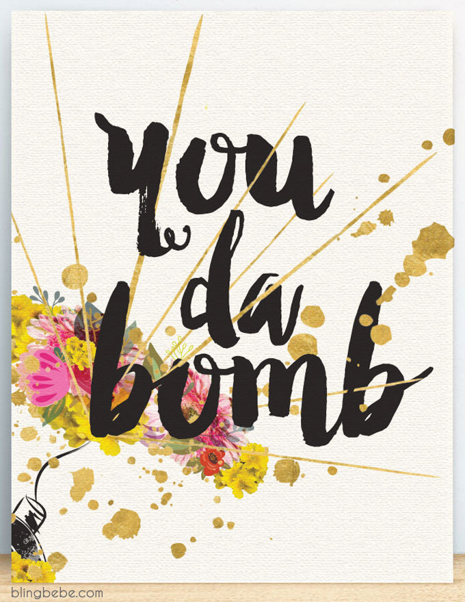 You Da Bom - blingbebe shop ::: greetings that shine  - 1