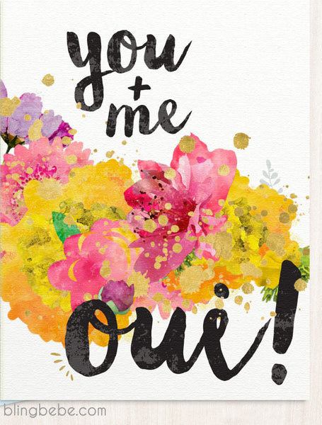 You Me Oui! - blingbebe :: greetings that shine