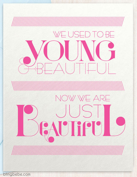 Young & Beautiful - blingbebe shop ::: greetings that shine  - 1