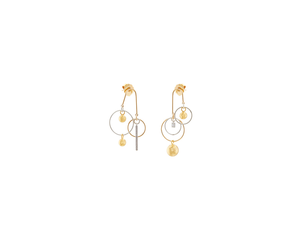 Vortex Mobile Earrings / Gold