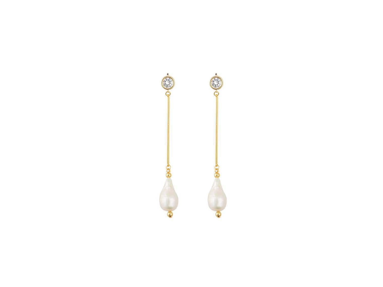 Comber Earrings / Gold