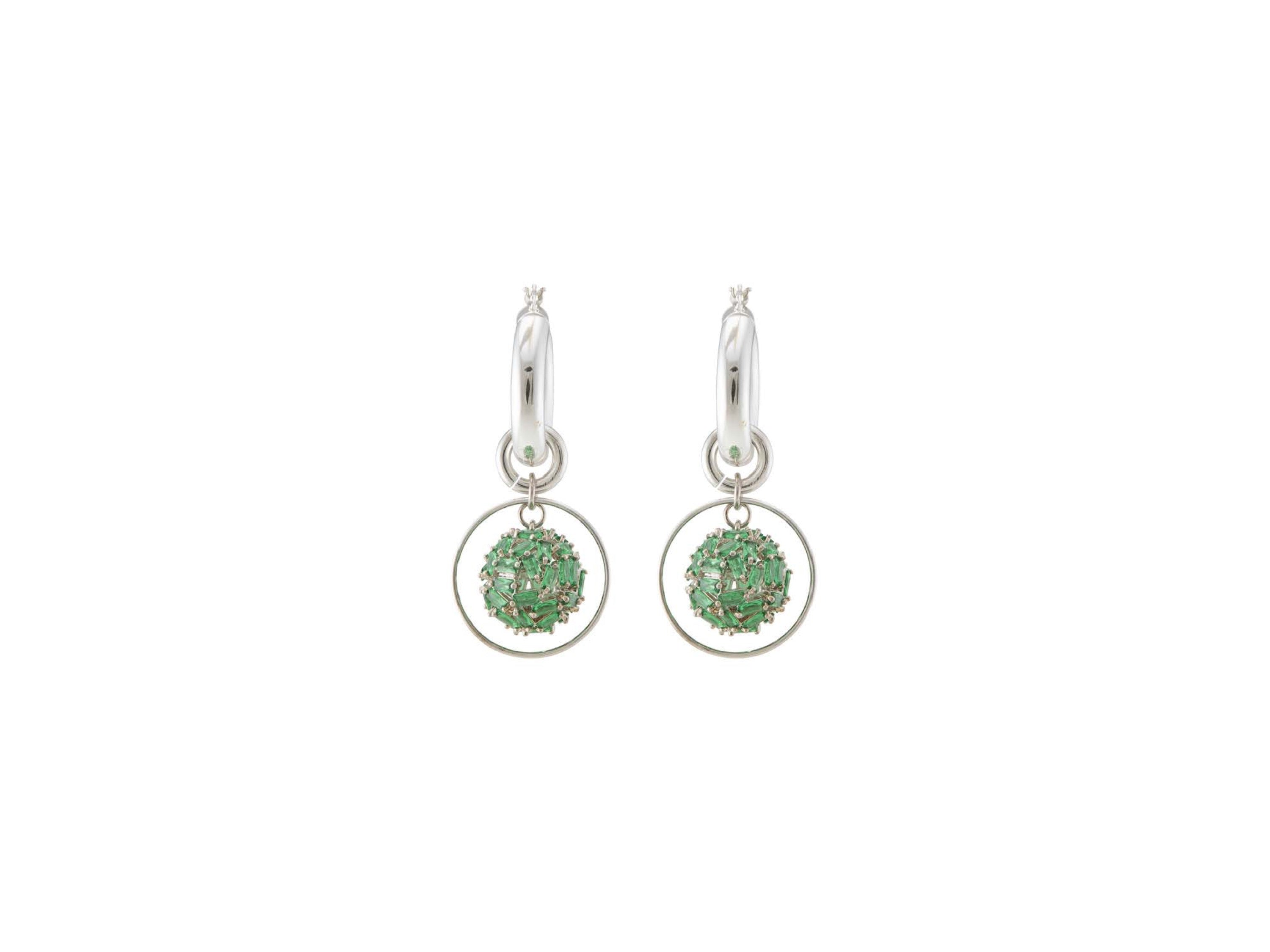 Supernova Hoop Earrings / Green