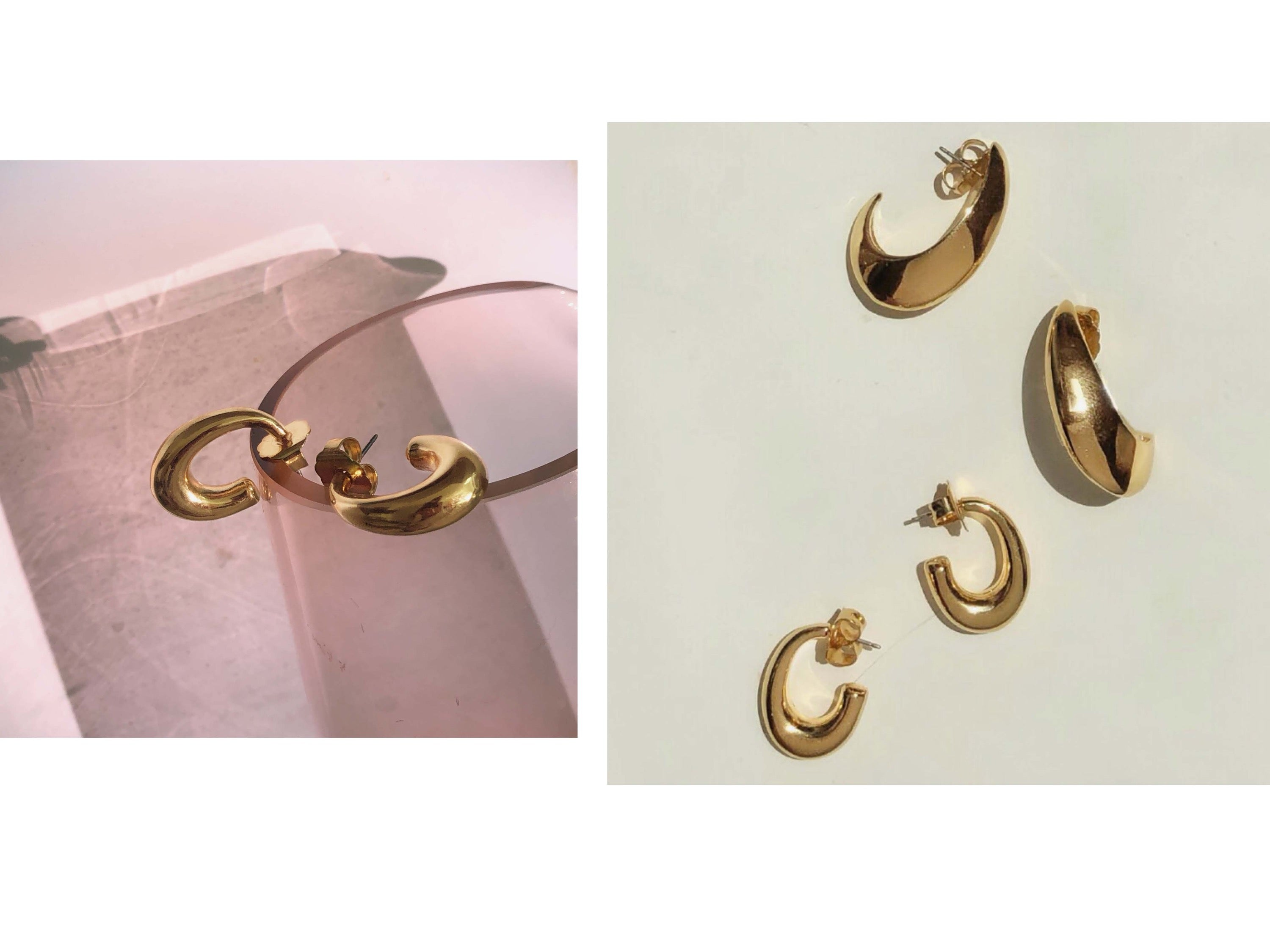 Beam Hoops / Gold