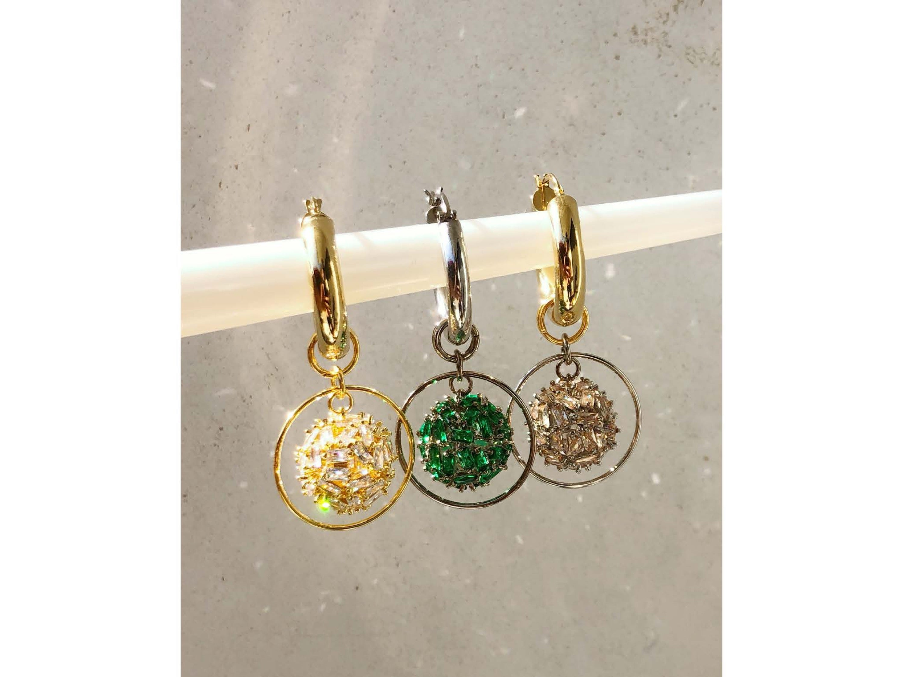 PRE ORDER Supernova Hoop Earrings / Green