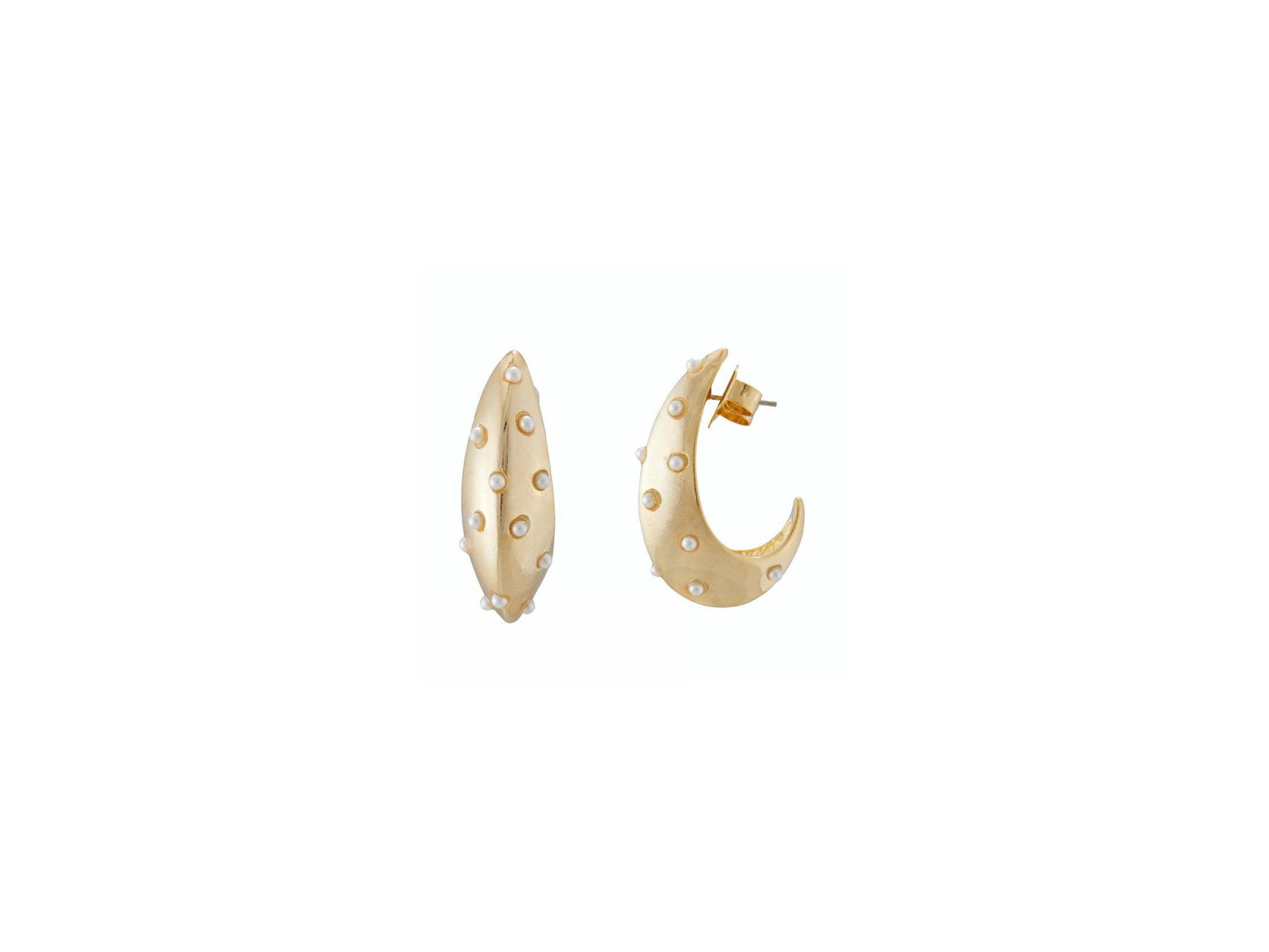 Stella Hoop Earrings / Gold
