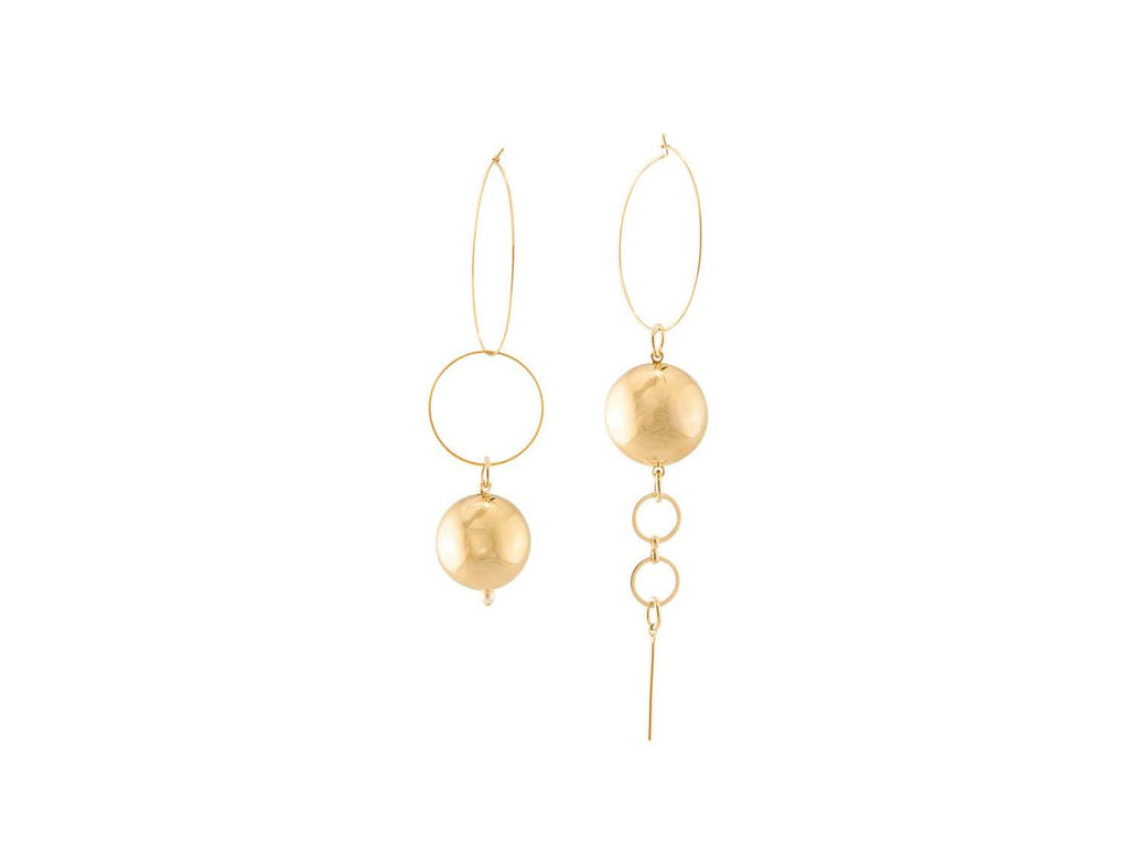 Solar Hoop Earrings / Gold