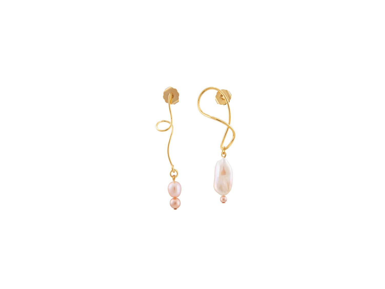Twister Earrings / Pink