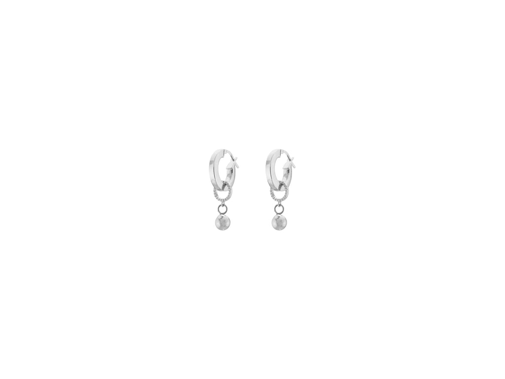 Continuum Petite Earrings / Silver