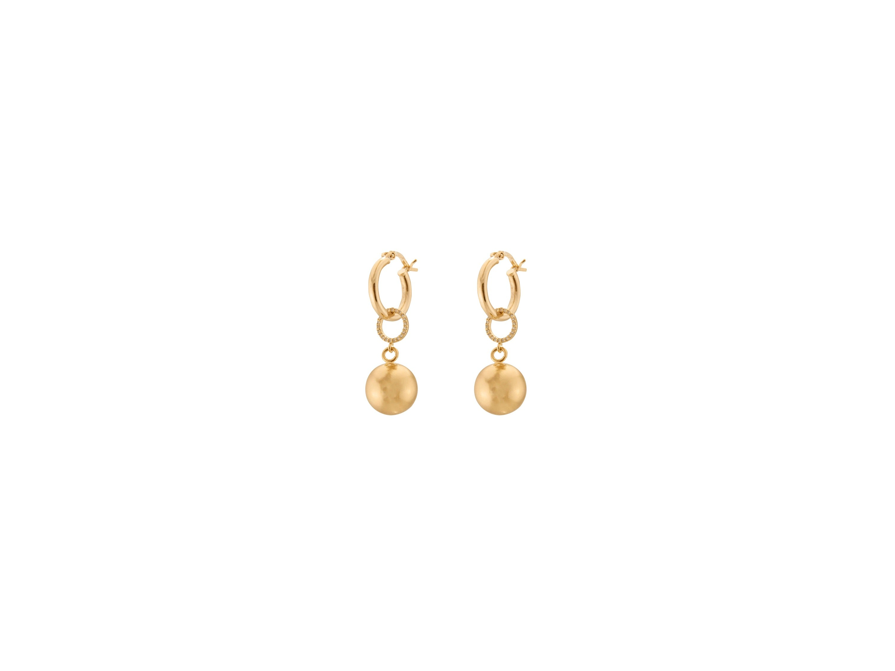 Full Moon Petite Earrings / Gold