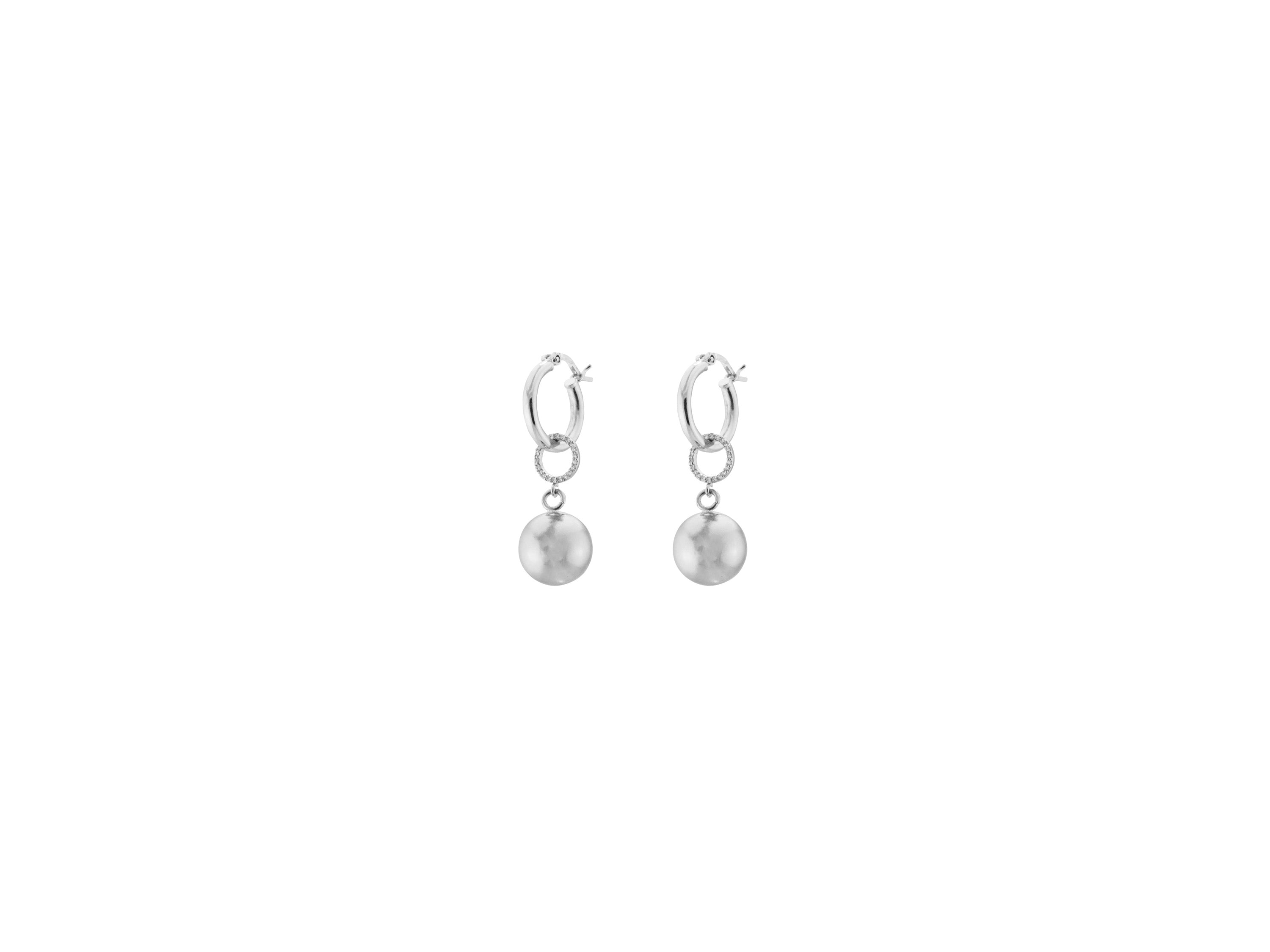 Full Moon Petite Earrings / Silver
