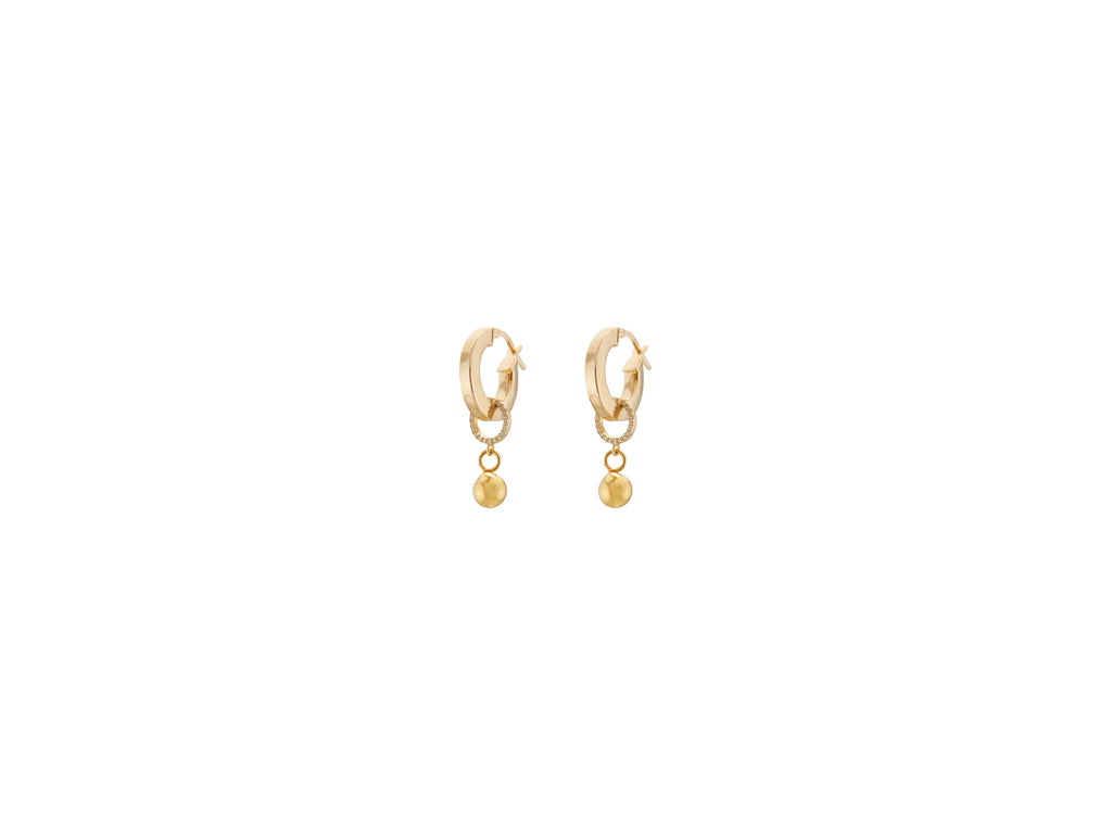Continuum Petite Earrings / Gold