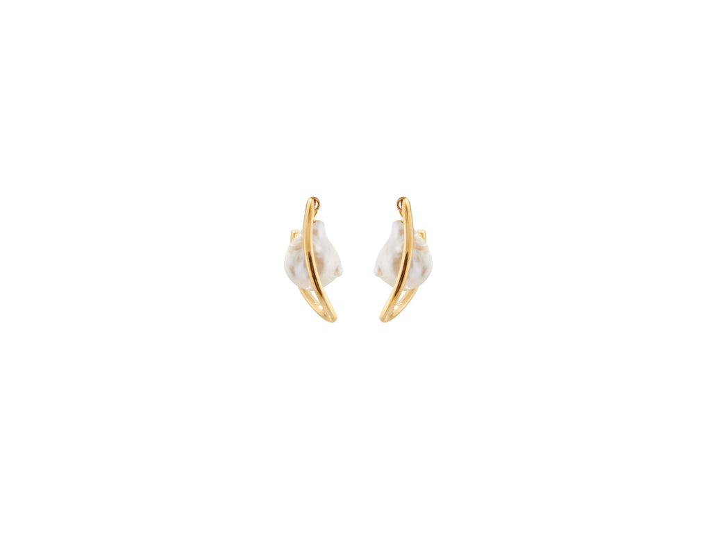 Waxing Hoop Earrings / Gold
