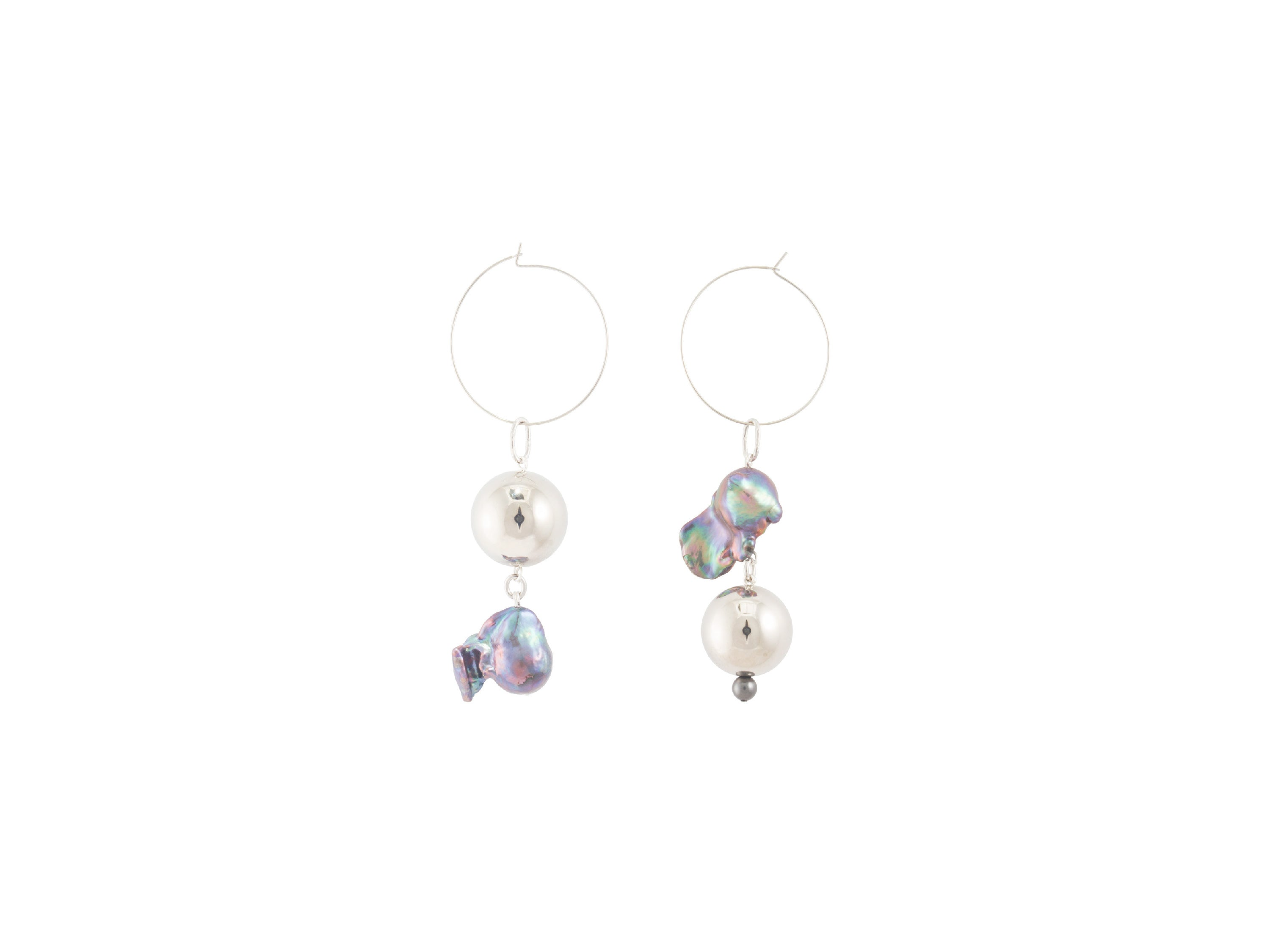 Pagoda Fruit Earrings / Silver