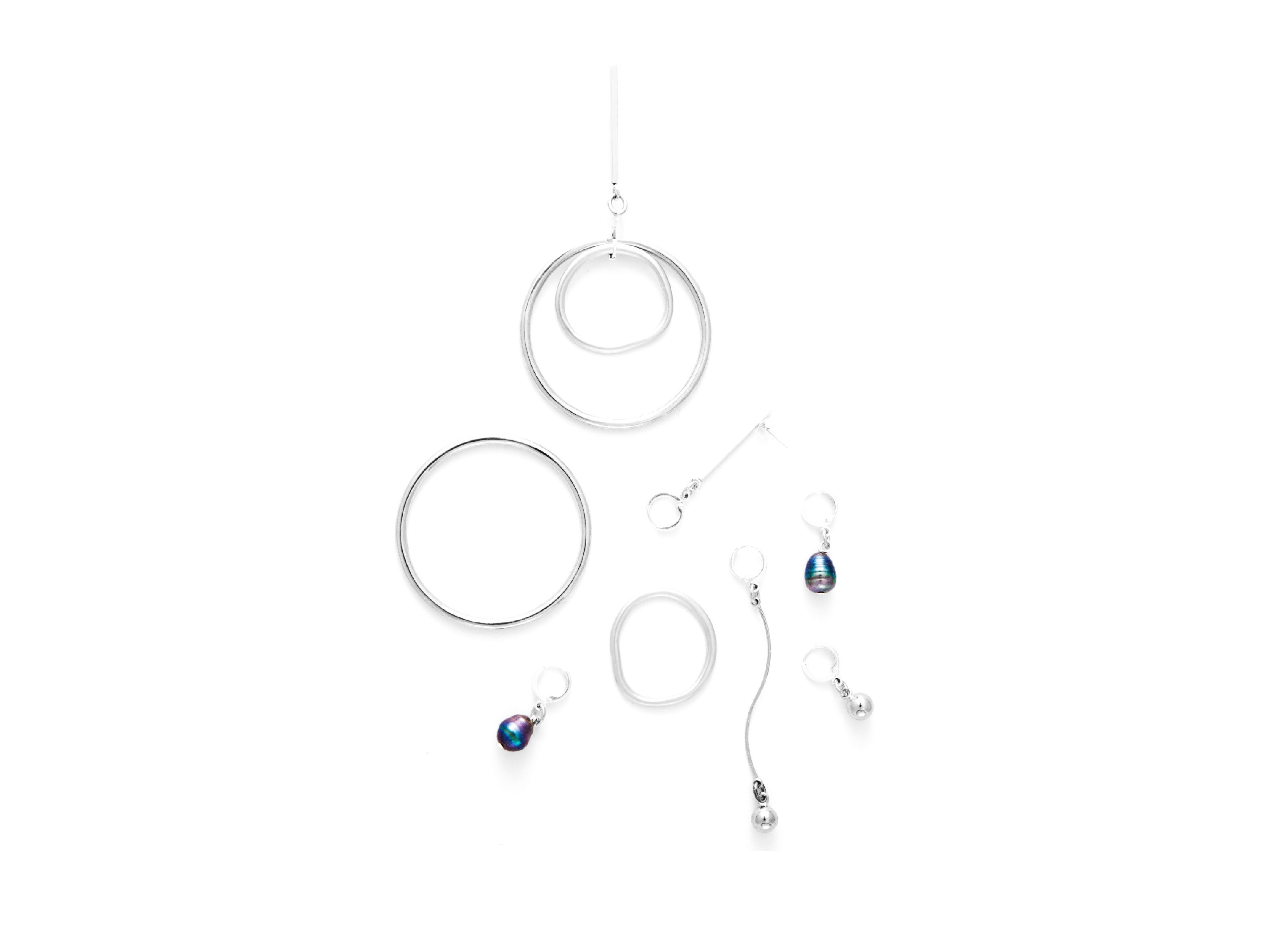 Dusk Convertible Earring Set | Silver