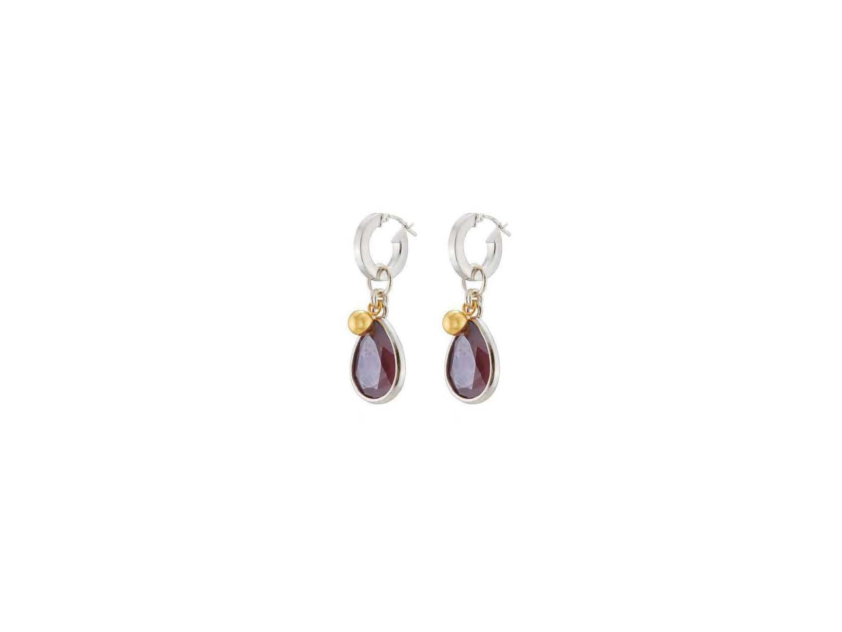 Anthurium Earrings / Ruby