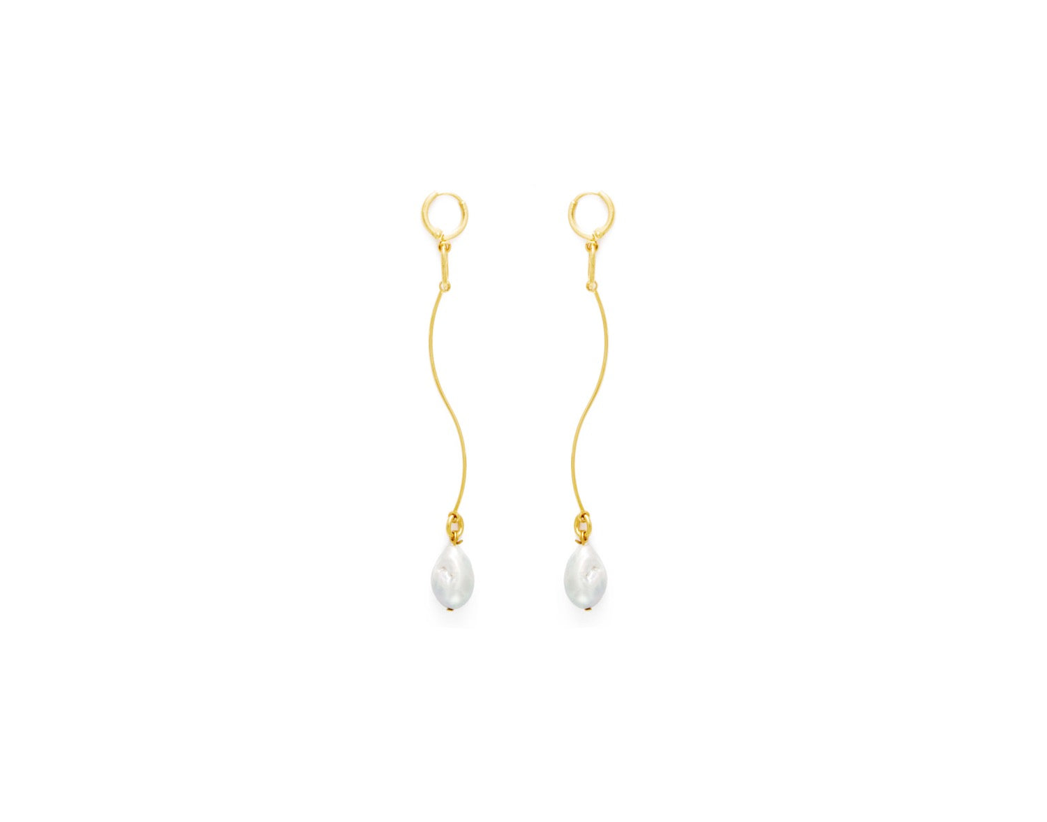 Stream Earrings in Gold