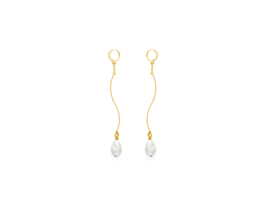 Stream Earrings / Gold