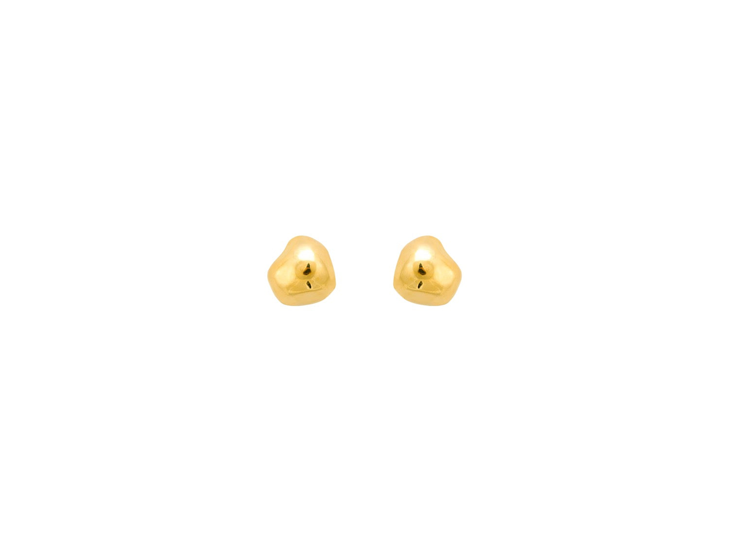 Pebble Stud Earrings / Gold
