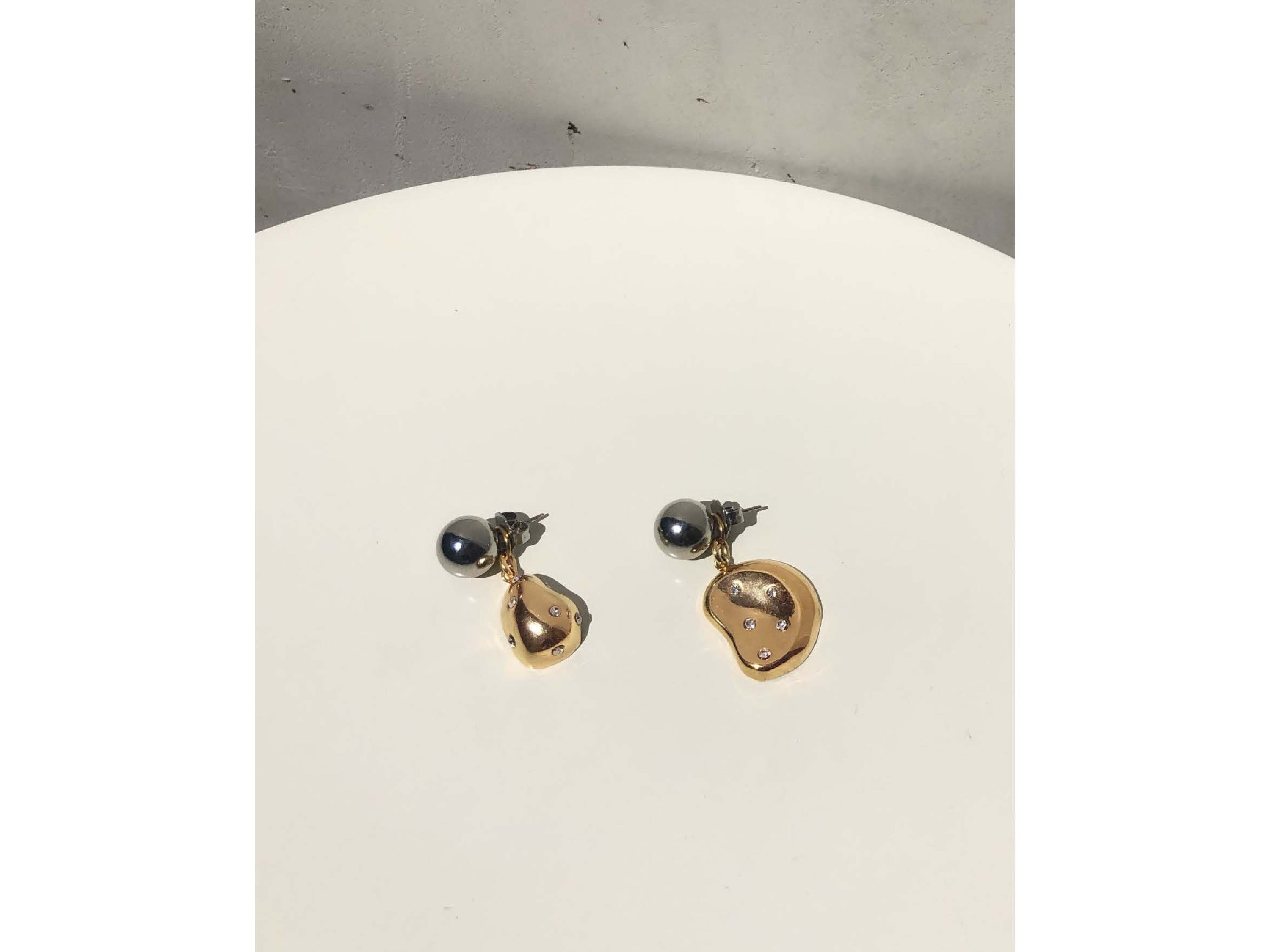 Aalto Nucleus Convertible Drop Earrings / Gold