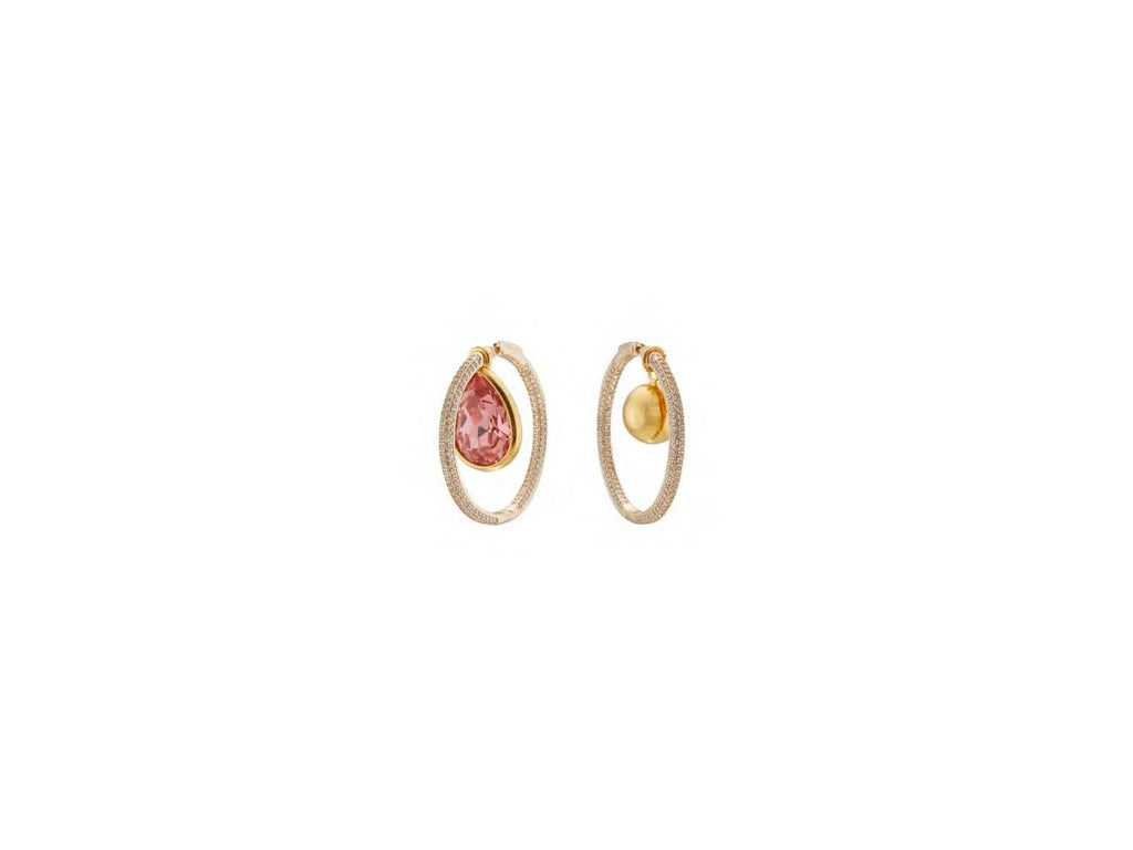 Waratah Hoop Earrings / Pink