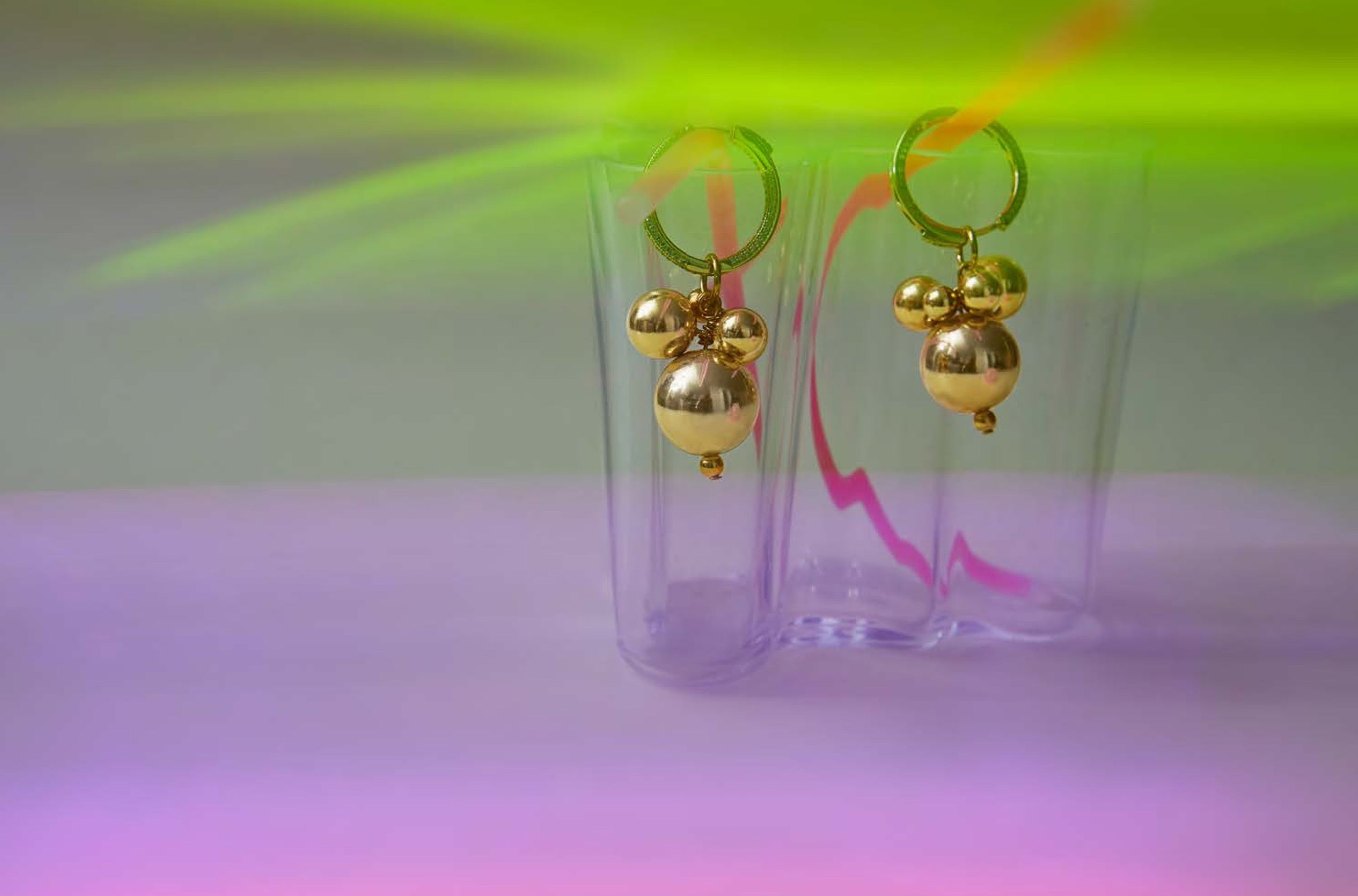 Solar System Hoop Earrings / Gold