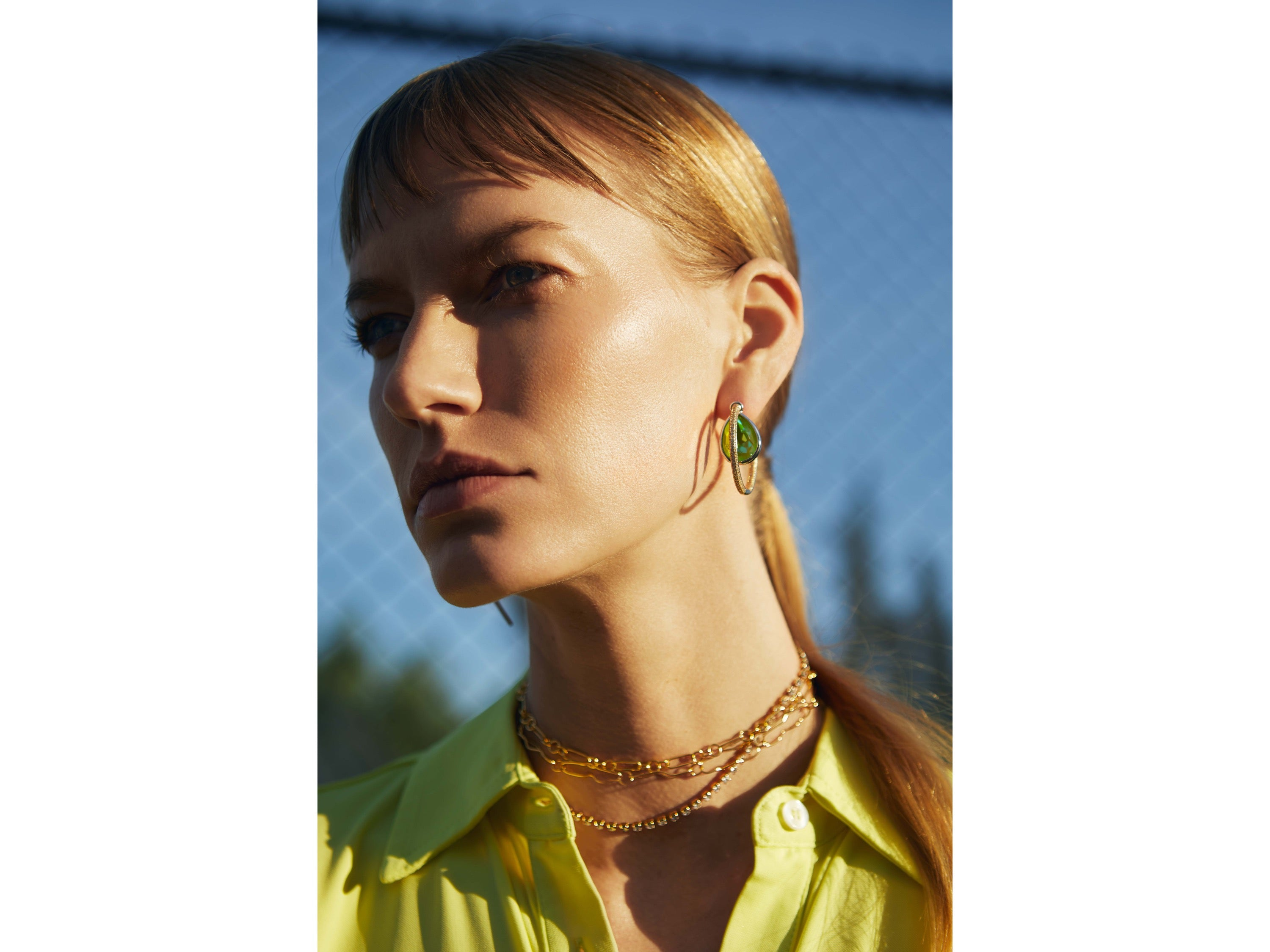 Vibernum Earrings  / Green