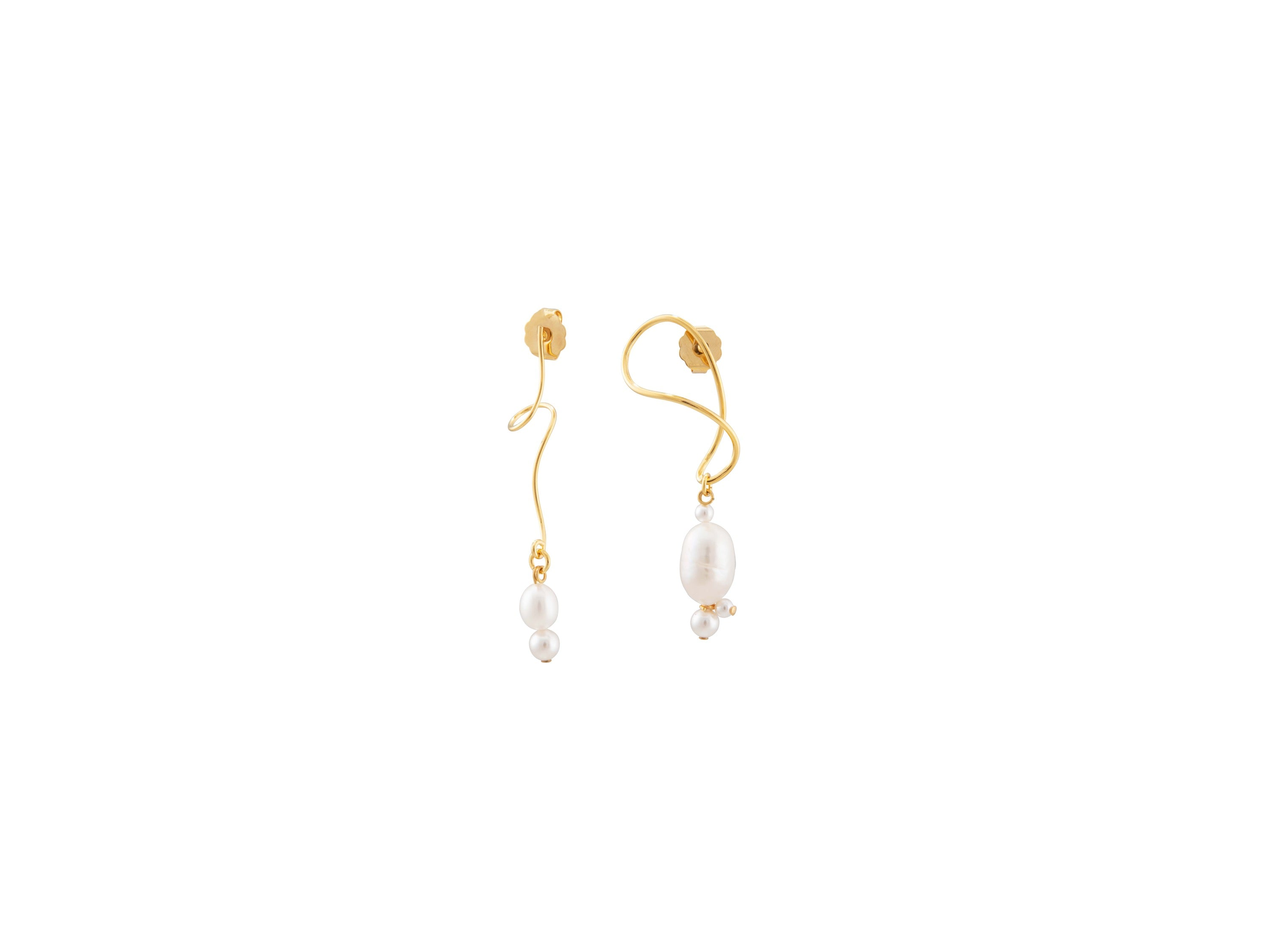 Twister Earrings / White