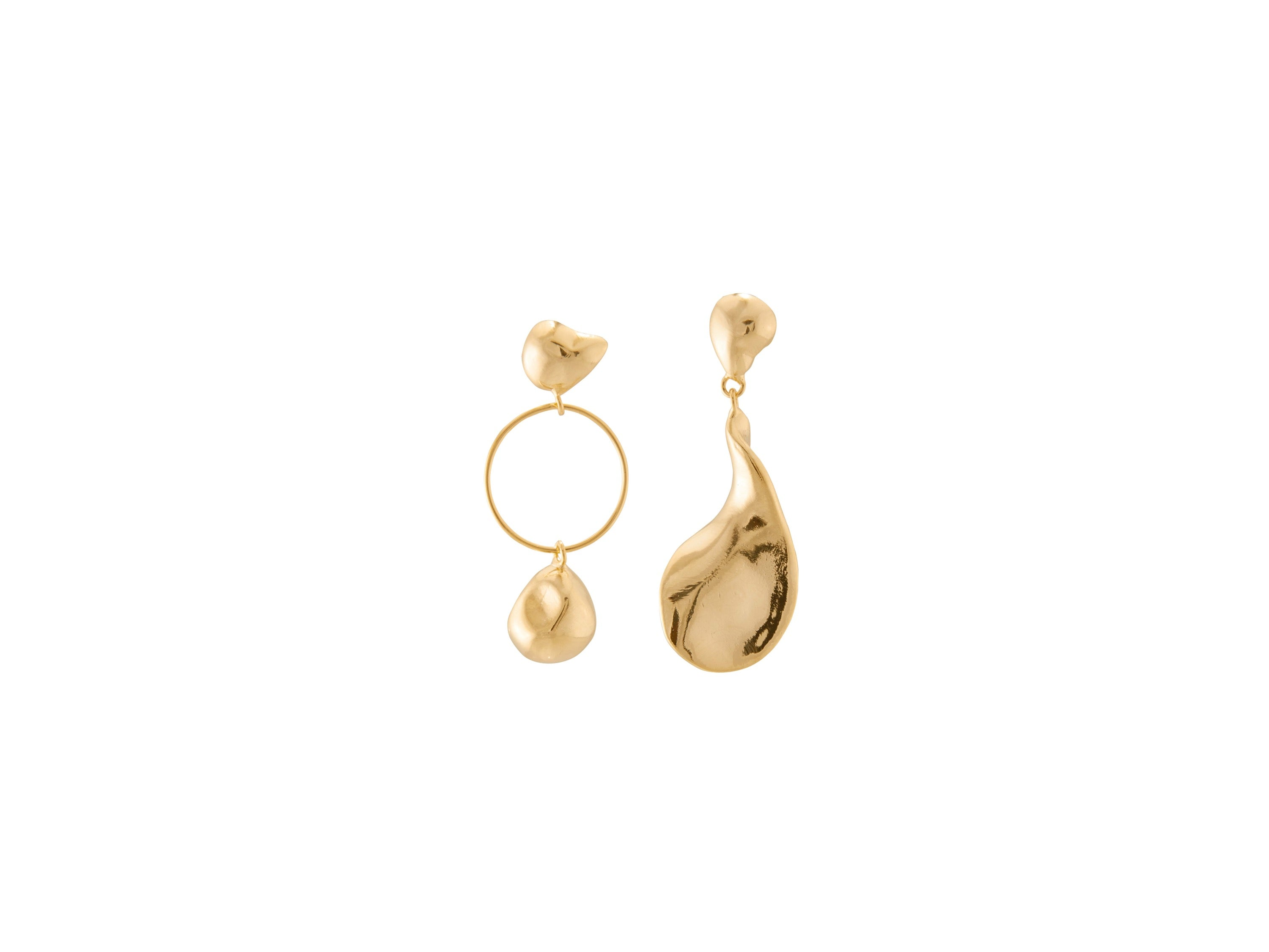 Lunar Earrings / Gold