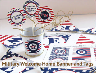 Military Welcome Home Party Banner