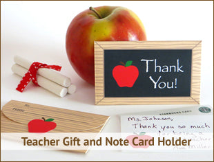 Teacher Gift and Note Card Holder Printable