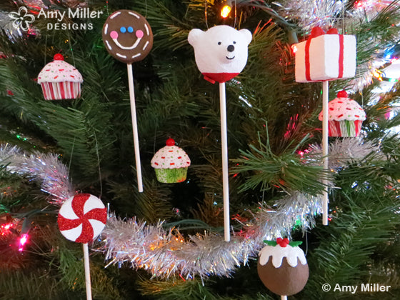 Bakerella Cake Pop Ornaments
