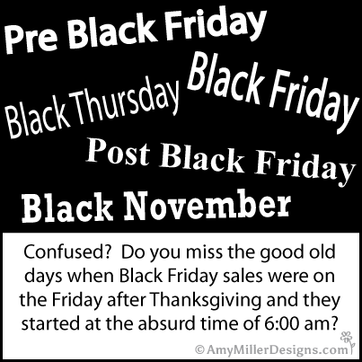 Black Friday Confusion