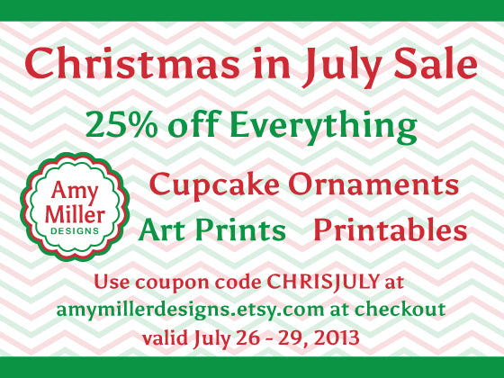 Christmas In July Sale at Amy Miller Designs