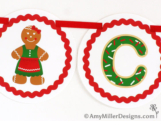 Cookie Exchange Printable Banner by Amy Miller Designs
