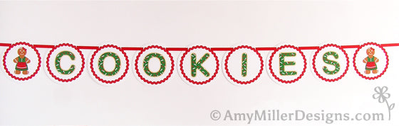 Cookie Swap Printable Banner by Amy Miller Designs