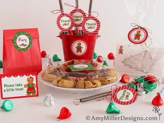Cookie Exchange Printable Favor Tags by Amy Miller Designs