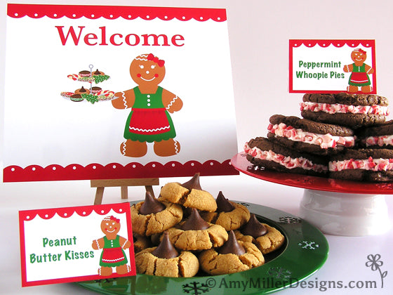 Cookie Exchange Printable Food Labels by Amy Miller Designs