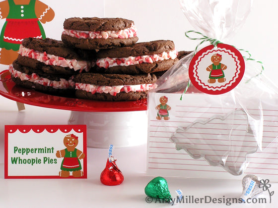 Cookie Exchange Printable Recipe Cards by Amy Miller Designs